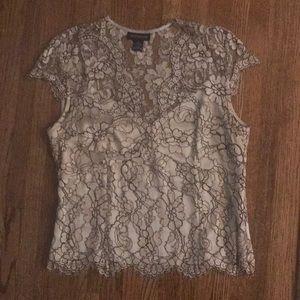 Ann Taylor women's lace shirt